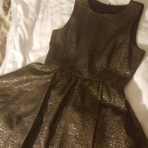 Zara Olive Green Shimer Cocktail Dress